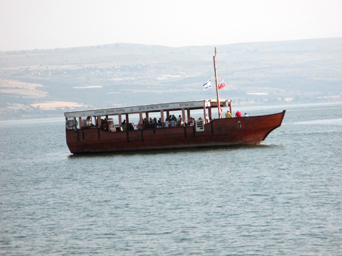 Wooden ship to Galilee